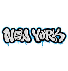new york graffiti vector image