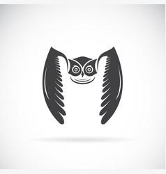 owl design on white background bird wild vector image vector image