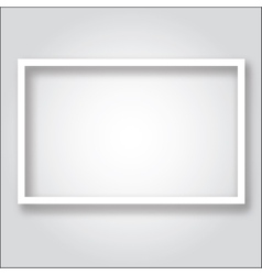 Paper frame template vector image