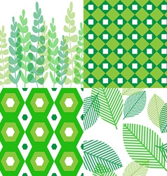 Patterns in shades of green vector