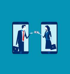 People online money transfer concept business vector