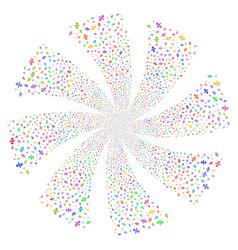 Percent fireworks swirl flower vector