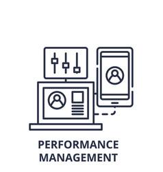 Performance management line icon concept vector