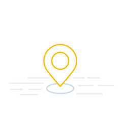 pinpoint gps tracking line icon vector image