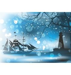 Pirate Ship Sailing vector