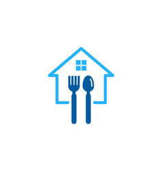 Property food logo icon design vector