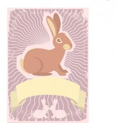 rabbit scroll vector image