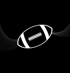 rugby american football white silhouette and vector image