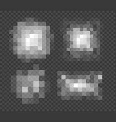 Set blured grey squares censorship background vector