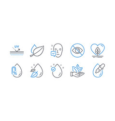 set healthcare icons such as local grown face vector image