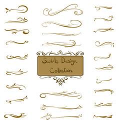 Set of swirls ornament decorative elements vector
