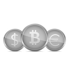 silver money coin vector image