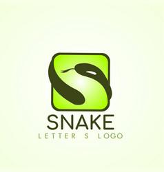 snake logo template design vector image