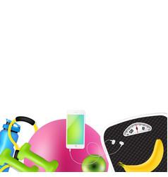 sport fitness frame vector image
