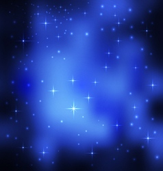 Stars in outer space vector