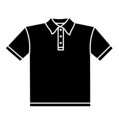 t-shirt icon simple black style vector image