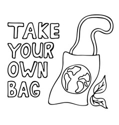 Take your own bag vector