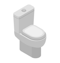 toilet bowl icon isometric style vector image
