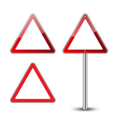triangle road signs set vector image