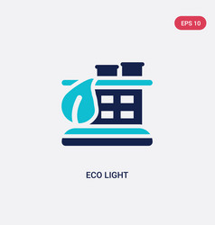Two color eco light icon from ecology concept vector