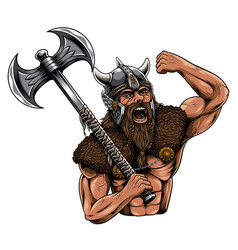 Viking norseman esport mascot logo vector