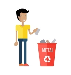 Waste Recycling Concept vector