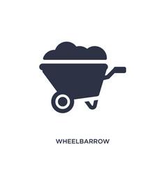 Wheelbarrow icon on white background simple vector