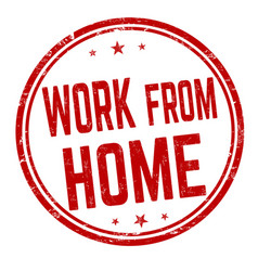 work from home grunge rubber stamp vector image