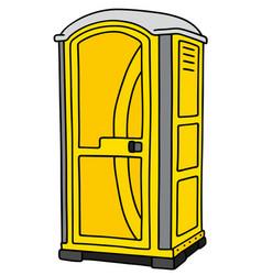 Yellow mobile toilet vector