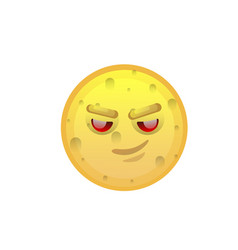 Yellow smiling face cunning negative people vector