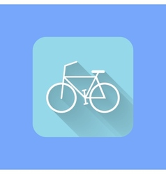 Bicycle flat design icon EPS vector image vector image