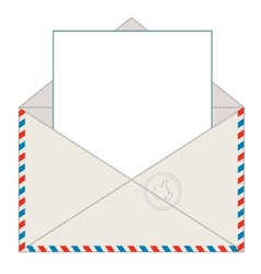Envelope with blank letter vector image