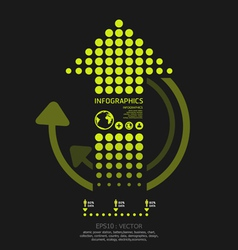 Infographics set dots arrows modern style vector