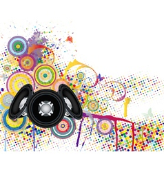 Musical background with grunge elements vector image