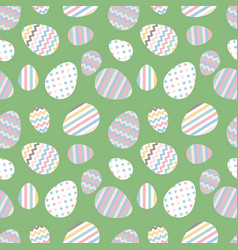 pastel seamless pattern with easter eggs vector image vector image