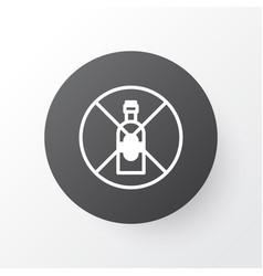 Alcohol forbid icon symbol premium quality vector