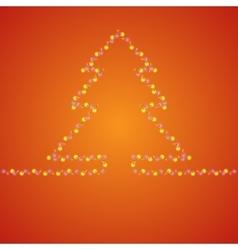 Fir-tree hot background vector image