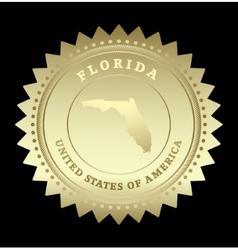 Gold star label Florida vector image