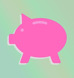 piggy bank icon vector image