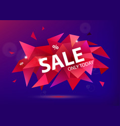 sale faceted 3d banner poster vector image vector image