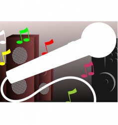 speaker and microphone vector image