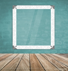 Vintage frame on brick wall vector image