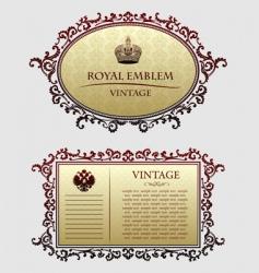 vintagedecorative frames vector image vector image