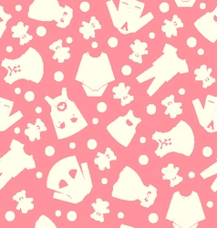 collection cute children fashion clothing vector image