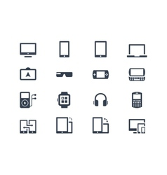 Device icons Gadgets vector image vector image