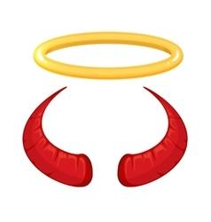 red Devil horns vector image vector image