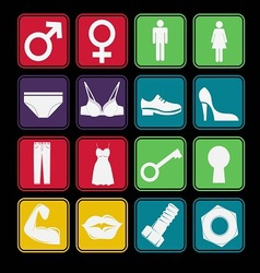 toilet sign icon basic style vector image vector image