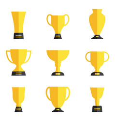 trophy collection set vector image