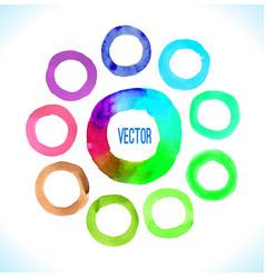 watercolor circles frame vector image vector image