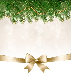 Christmas background with christmas tree branches vector image vector image